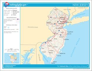 Landkarte New Jersey