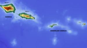 Cyclone Val - Map of Samoa and American Samoa
