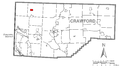 Map of Springboro, Crawford County, Pennsylvania Highlighted.png