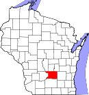 Map of Wisconsin highlighting Columbia County.svg