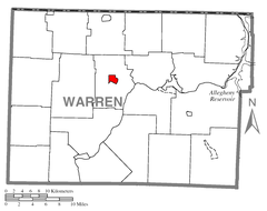Map of Youngsville, Warren County, Pennsylvania Highlighted.png