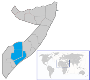 South West State of Somalia - Image: Map of the South West State within Somalia