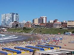 Mar del Plata's popular beach