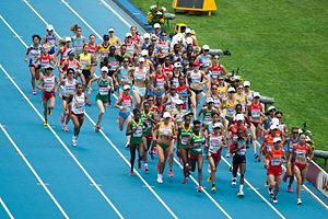 2013 World Championships in Athletics – Women's marathon - Start of the women marathon