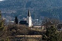 Maria Saal Karnburg Pfarrkirche hll Peter und Paul mit Pfarrhof 02032017 4858.jpg