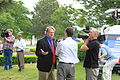 Mark Brewer interviewed at Mitt Romney campaign event.JPG