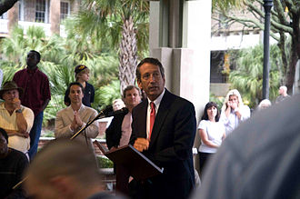 Mark Sanford - Then-Governor Mark Sanford speaking at an event in September 2010.
