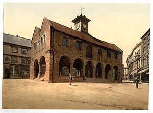 Ross-on-Wye - The Market House in 1890 (photochrom)