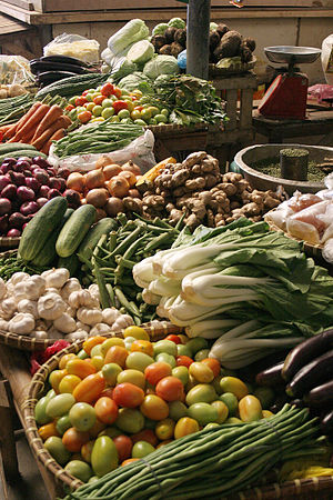 Vegetable - Vegetables in a market in the Philippines