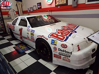 Jeff Gordon - Gordon's Bill Davis Racing Busch Series car on display in the Martin Auto Museum