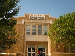 Martin High School (Laredo, Texas) - The Health Science Magnet School of Laredo ISD is named for physician Dennis D. Cantu, a member of the Laredo Independent School District Board.