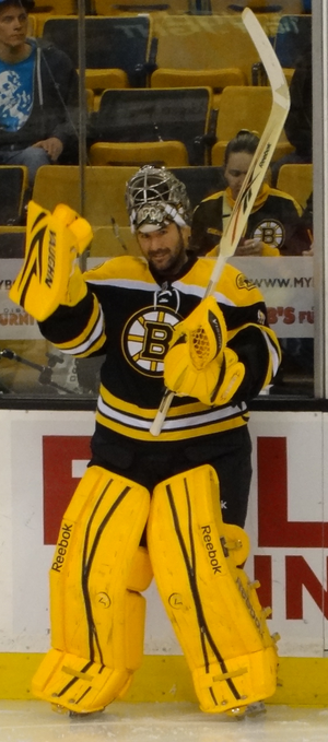 Marty Turco - Turco with the Boston Bruins in 2012.