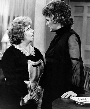 Hermione Baddeley - Baddeley (left) as Mrs Naugatuck in Maude, with Bea Arthur