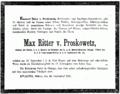 Max von Proskowetz Todesanzeige.png