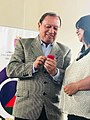 Mayor Pareja with supporter.jpg