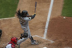 Andrew McCutchen - McCutchen batting in 2014 against the St. Louis Cardinals