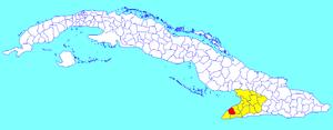 Media Luna, Cuba - Image: Media Luna (Cuban municipal map)