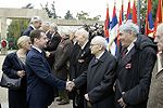 Medvedev and Tadic with veterans 20 Oct 2009.jpg
