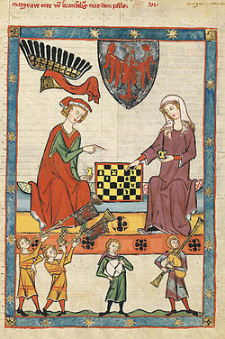 Noble chess players, Germany, c. 1320