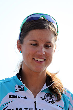 Melanie Hauss - Melanie Annaheim with the bronze medal at the French Club Championship Series triathlon in Nice, 2010.