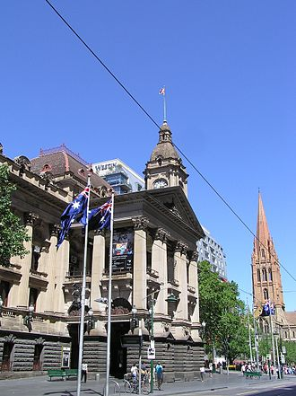 City of Melbourne - Melbourne City Town Hall on Swanston Street built 1870–1887