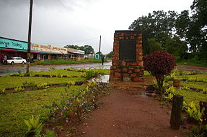 Mbala, Zambia - The memorial at Mbala, where von Lettow-Vorbeck formally surrendered at the end of the First World War, designed by Sir Edwin Lutyens