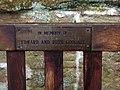 Memorial plaque on seat in St. Saviour's churchyard - geograph.org.uk - 1175590.jpg