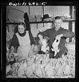 Mennonite farmer and wife selling fowl at the farmer's market 8d23535v.jpg