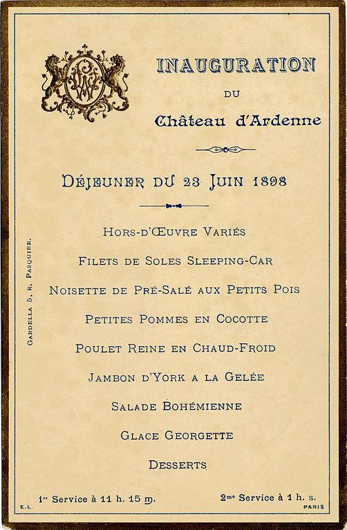 Menus Restaurant Chateau Lespignan