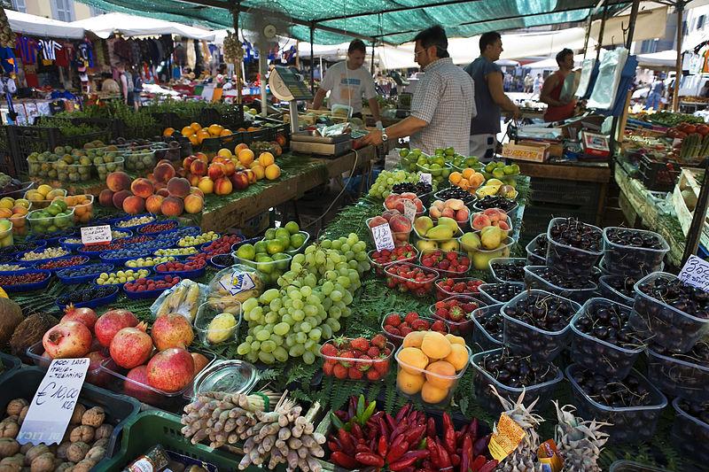 File:Mercato di Campo di Fiori Open Market, Rome - 1864.jpg