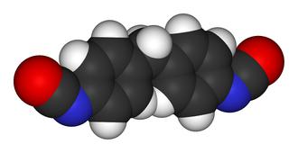 Methylene diphenyl diisocyanate - Image: Methylene diphenyl diisocyanate 3D vd W