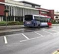 Metro bus outside Morriston Hospital, Swansea (geograph 5945227).jpg