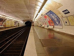 Bolivar (Paris Métro) - Image: Metro de Paris Ligne 7bis Bolivar 02