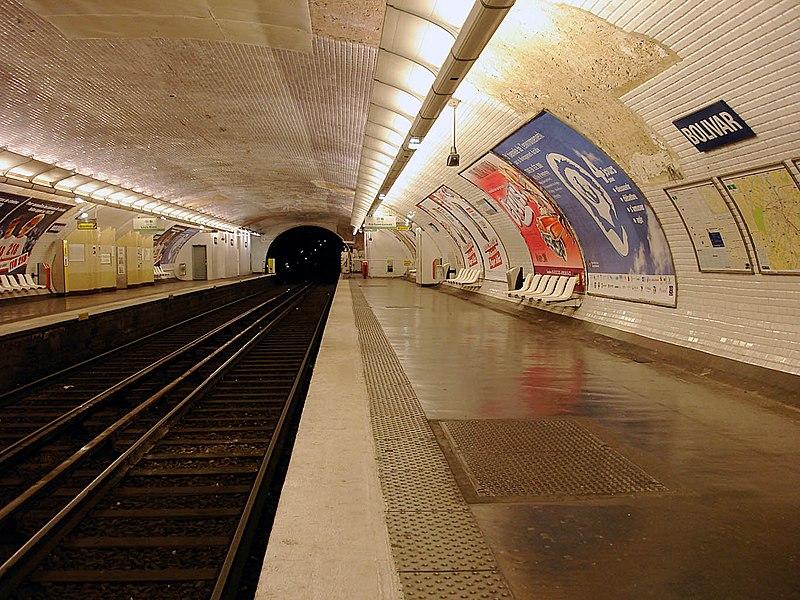 Metro de Paris - Ligne 7bis - Bolivar 02.jpg