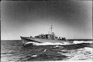 Fairmile D motor torpedo boat - Image: Mgb 606 FL15328