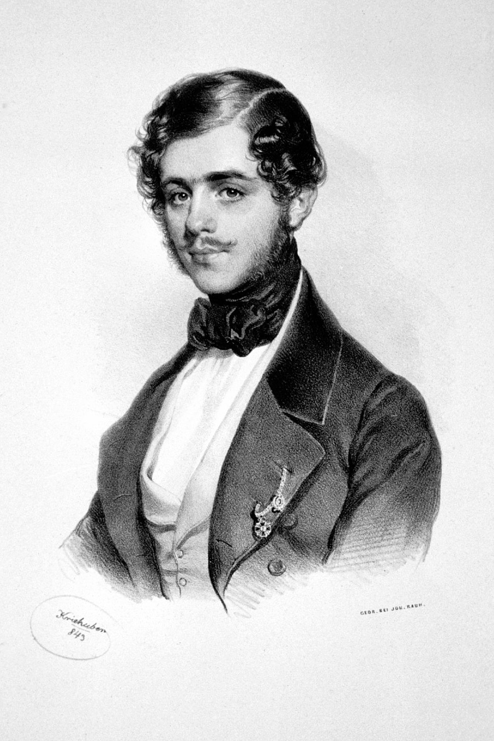 Michael Obrenowitsch III. Litho