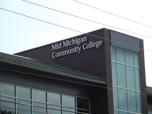 Mid Michigan Community College - Photo, July 2014, of a new building at the Mt. Pleasant, MI campus of Mid Michigan Community College