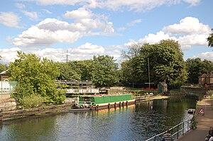Lea Bridge - Image: Middlesex Filter Beds Weir Head