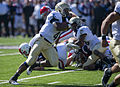 Midshipmen on offense at Navy at Air Force 2010-10-02 2.JPG