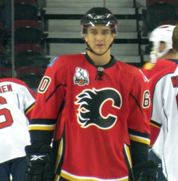 alt=Description de l'image Mikael Backlund Flames.png.