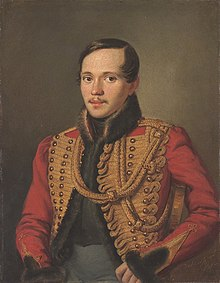 Portrait of a young Mikhail Lermontov