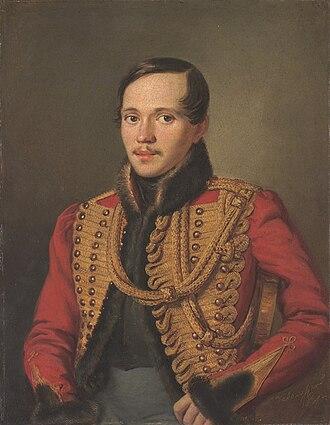 Mikhail Lermontov - Mikhail Lermontov in 1837