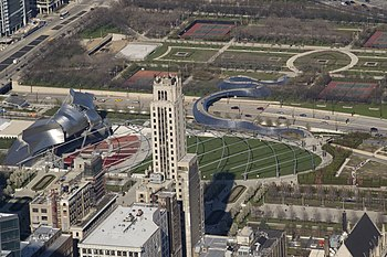 English: View of Millennium Park from the Will...