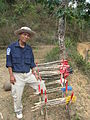Mine clearance workers ouside a village in Laos, 2009. Photo- AusAID (10698566373).jpg