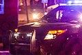 Minneapolis Police Department squad car shines spotlight on 4th Precinct Black Lives Matter demonstrators (23281945640).jpg
