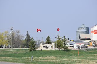Minto, Manitoba - Welcome sign for Minto, Manitoba