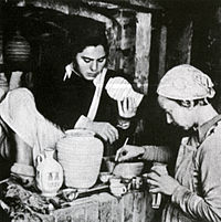 Mira libes and hava samuel next to the kiln.jpg