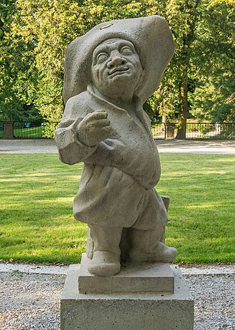 Mirabell Palace - One of the dwarf statues inside the Dwarf Garden