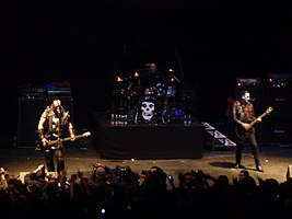 The Misfits performing in Chile, 2010