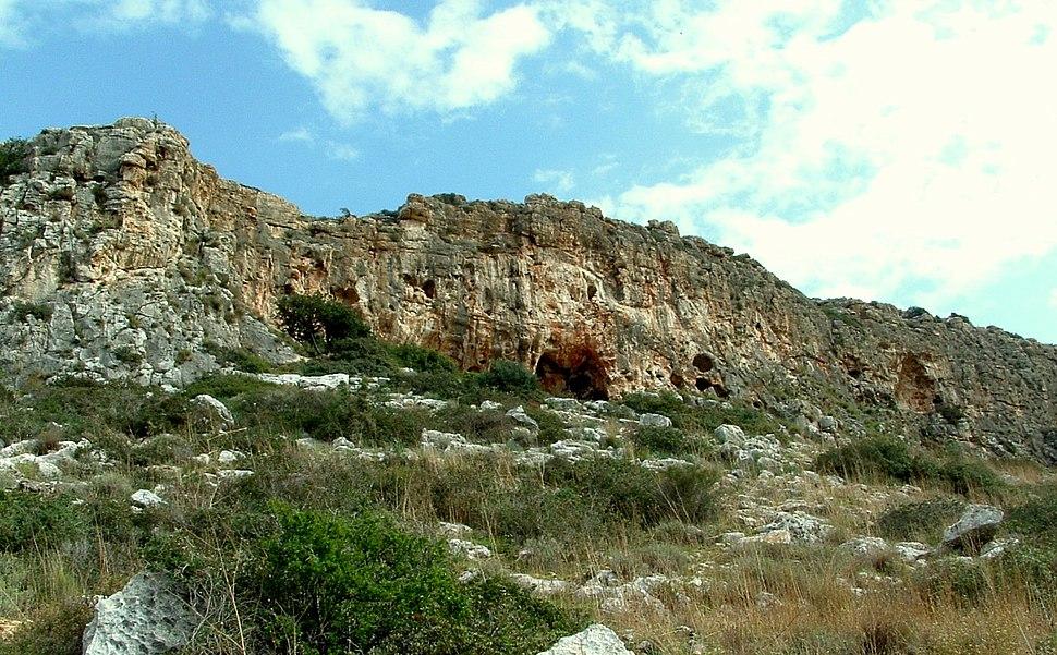 Misliya cave in Megadim Cliff, Mount Carmel